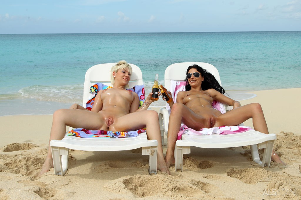 Bibi Noel and Shalina Devine on the Beach