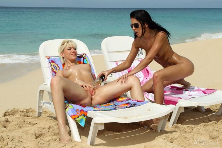 Bibi Noel and Shalina Devine on the Beach