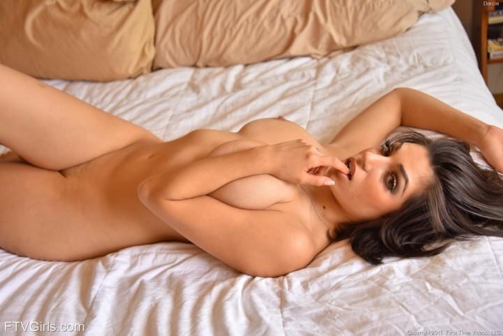 Hot Big Boobs Brunette Darcie in the Bedroom