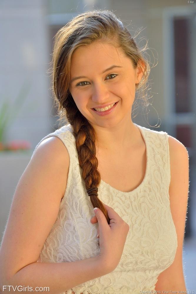 Hot Brunette Ellie Pretty Teen Whites