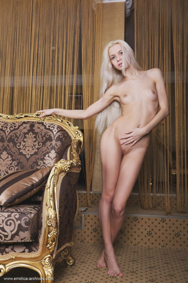 Hot blonde babe Leonie posed in Errotica Archives photo set Patron by Flora